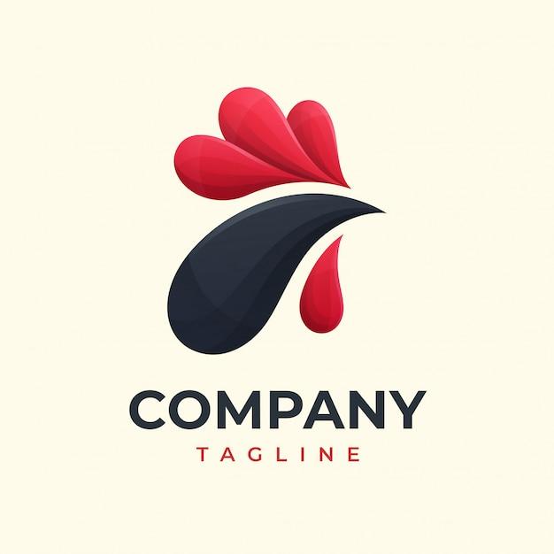 Koncepcja Logo Kurczaka Premium Wektorów