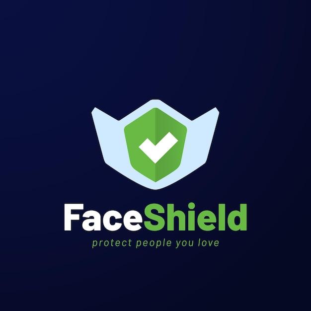 Koncepcja Logo Maski Na Twarz Premium Wektorów