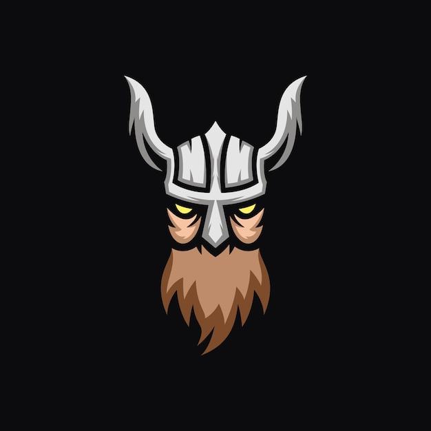 Koncepcja logo viking Premium Wektorów