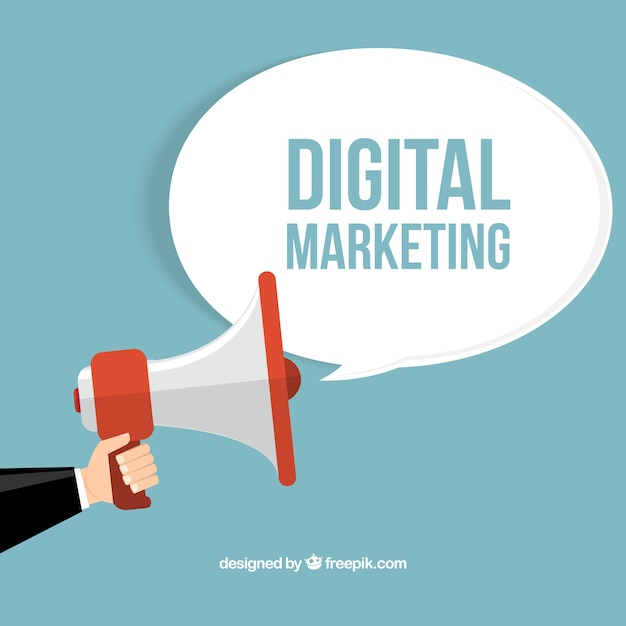 Koncepcja marketingu cyfrowego Darmowych Wektorów