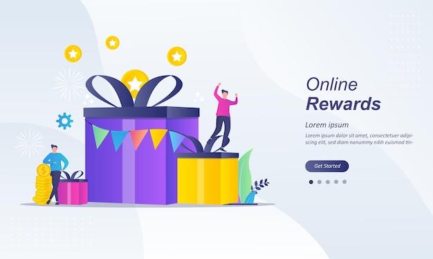 Koncepcja Nagród Online, Zdobądź Punkt Premium Wektorów
