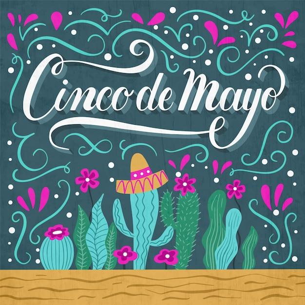 Koncepcja Napis Cinco De Mayo Darmowych Wektorów
