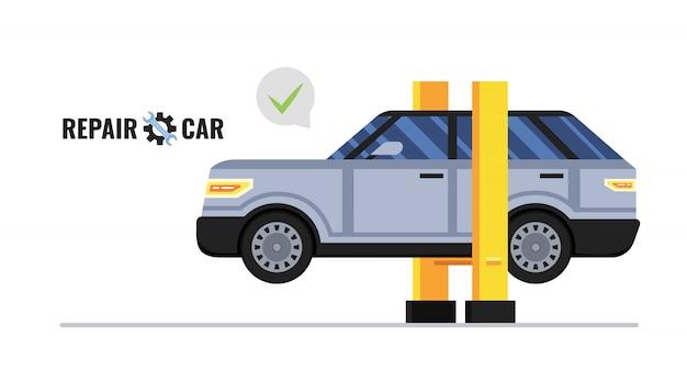 Koncepcja Naprawy Samochodu Premium Wektorów