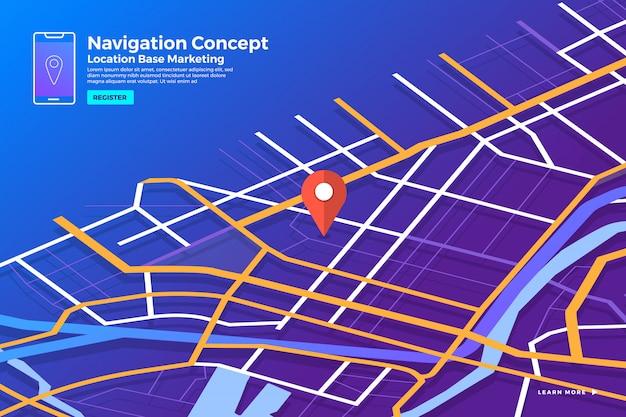 Koncepcja Nawigatora Lokalizacji Premium Wektorów