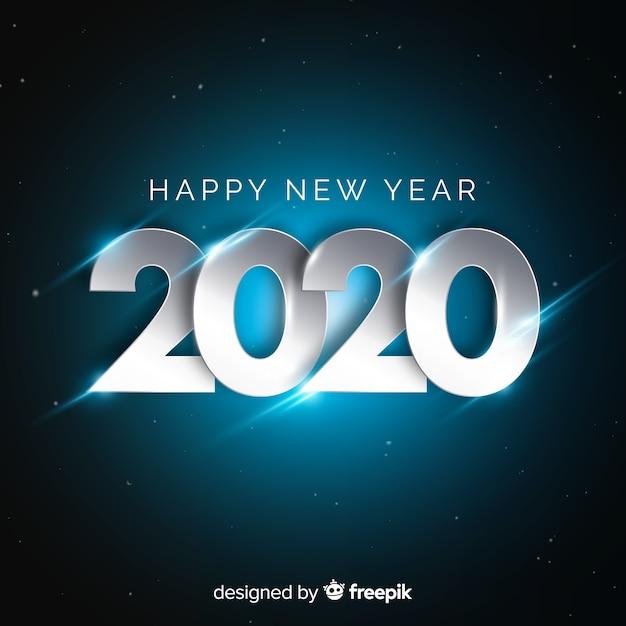 Koncepcja nowego roku ze srebrnym wzorem Darmowych Wektorów