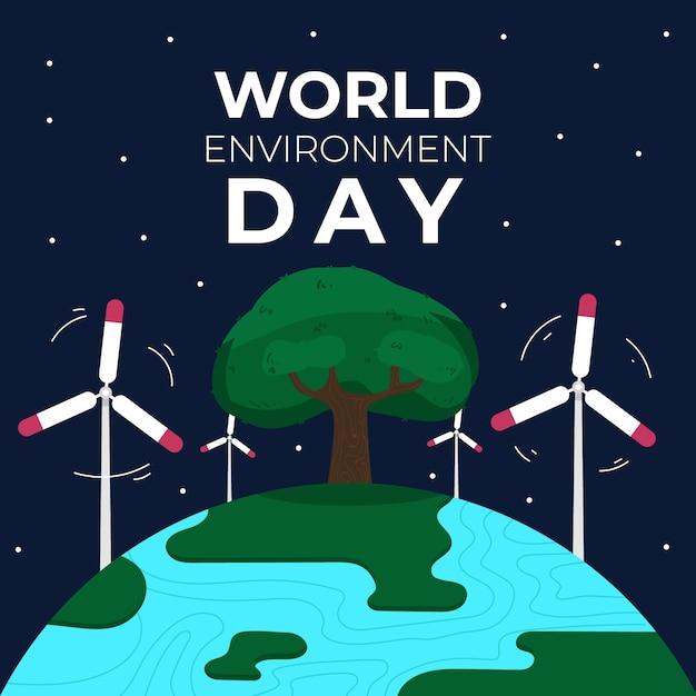 Koncepcja Obchodów światowego Dnia środowiska Darmowych Wektorów