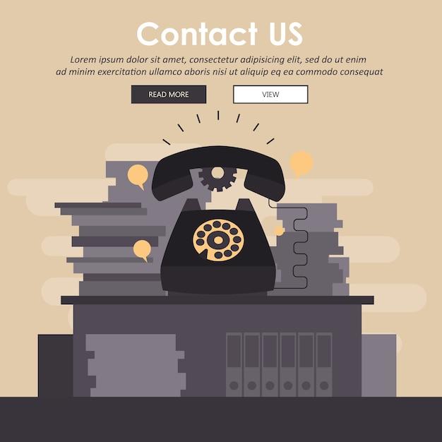 Koncepcja Obsługi Klienta Biznesowego Premium Wektorów