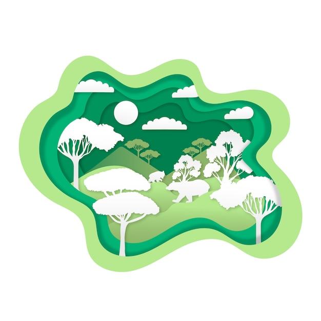 Koncepcja Ochrony środowiska Z Lasem Darmowych Wektorów