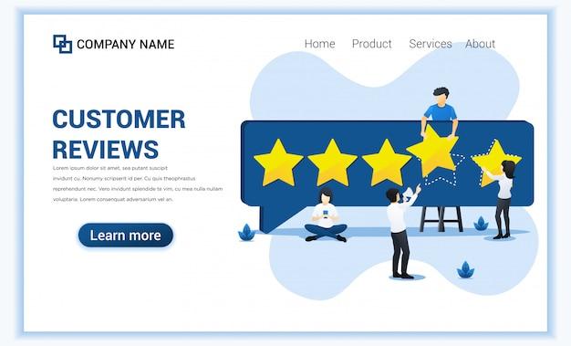 Koncepcja Opinii Klientów Z Udziałem Osób, Które Dają Pięć Gwiazdek, Pozytywne Opinie, Zadowolenie I Ocenę Produktu Lub Usługi. Premium Wektorów