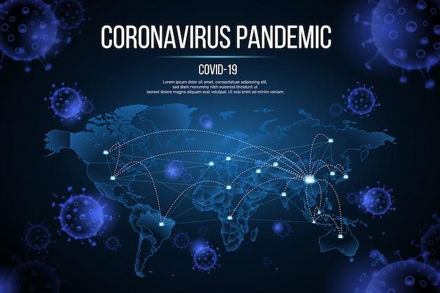 Koncepcja Pandemii Koronawirusa Darmowych Wektorów