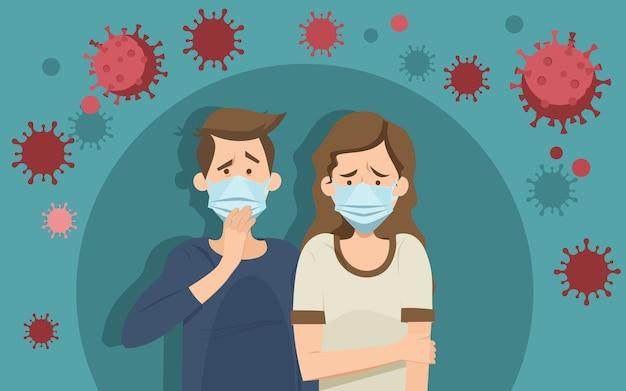 Koncepcja Paniki Koronawirusa Darmowych Wektorów