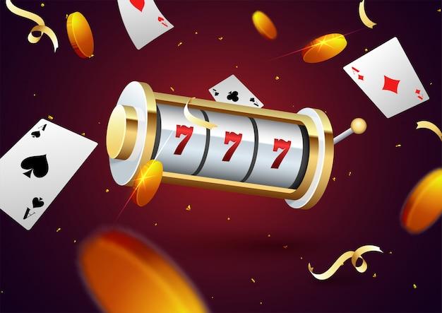 Koncepcja partii noc hazardu Premium Wektorów