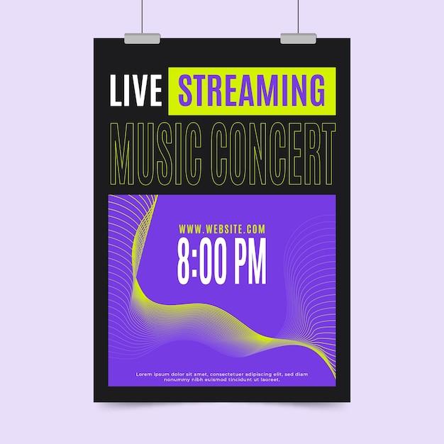 Koncepcja Plakat Koncert Muzyki Na żywo Darmowych Wektorów