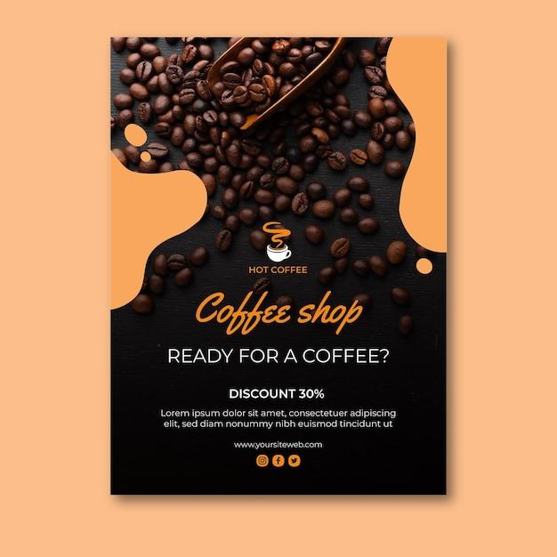 Koncepcja Plakatu Kawiarni Premium Wektorów