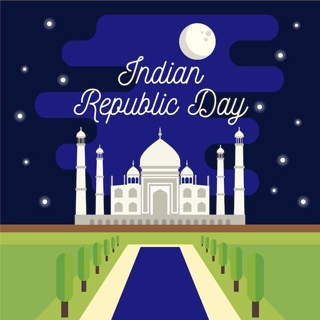 Koncepcja Płaski Dzień Republiki Indii Darmowych Wektorów