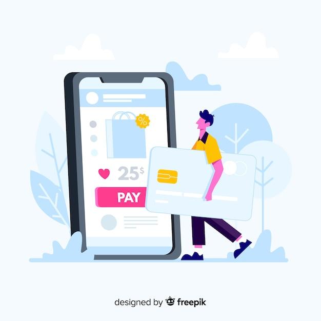 Koncepcja Płatności Kartą Kredytową Dla Strony Docelowej Darmowych Wektorów