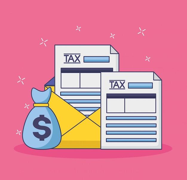 Koncepcja Płatności Podatku Darmowych Wektorów