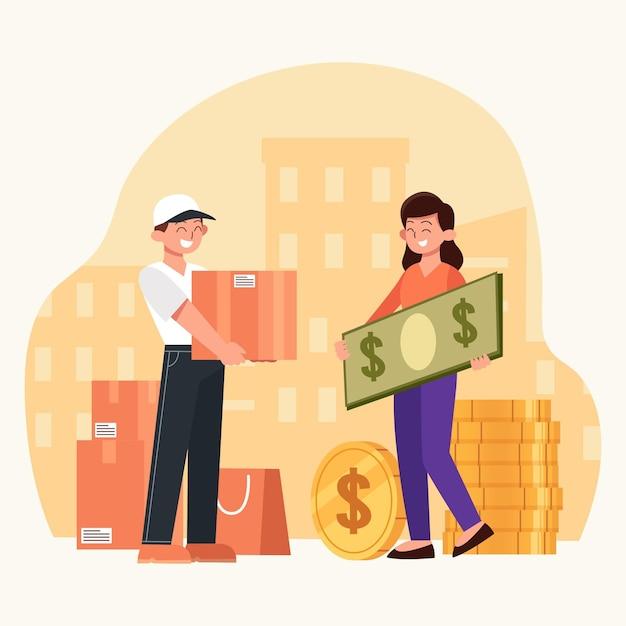 Koncepcja Płatności Za Pobraniem Darmowych Wektorów