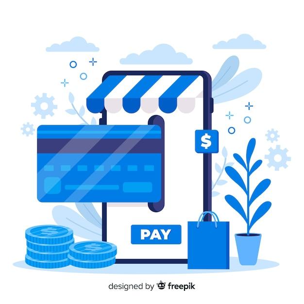Koncepcja płatności za stronę docelową karty kredytowej Darmowych Wektorów