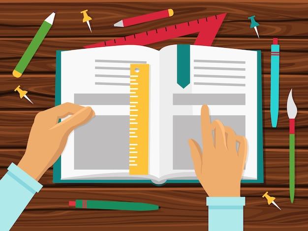 Koncepcja Podręczników Szkolnych Darmowych Wektorów