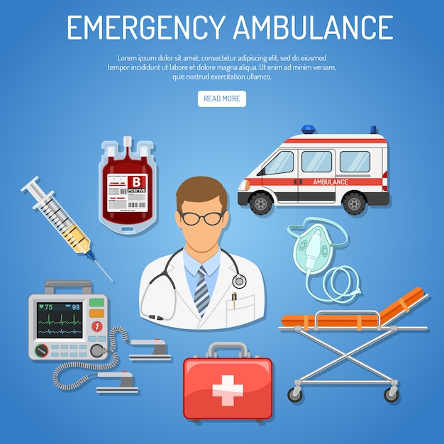 Koncepcja Pogotowia Medycznego Premium Wektorów