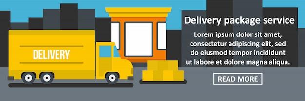 Koncepcja pozioma transparentu usługi dostawy pakietu Premium Wektorów