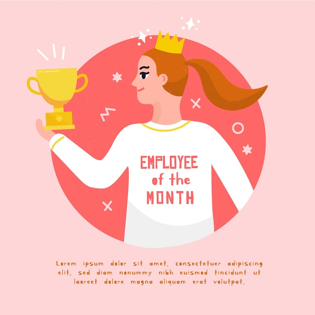Koncepcja Pracownika Miesiąca Darmowych Wektorów