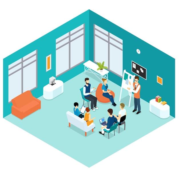 Koncepcja Prezentacji Biznesowych Izometryczny Darmowych Wektorów