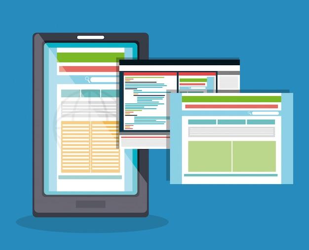 Koncepcja Projektowania Stron Internetowych Darmowych Wektorów