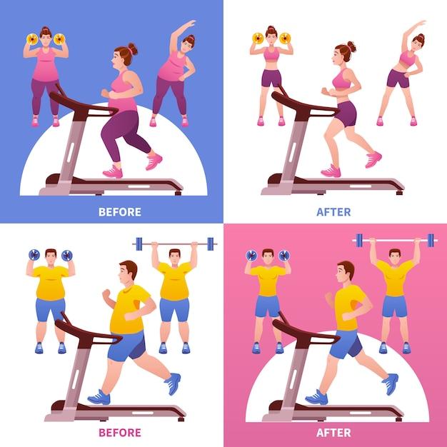 Koncepcja Projektu Fitness Darmowych Wektorów