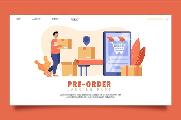 Koncepcja Przedsprzedaży - Strona Docelowa Premium Wektorów
