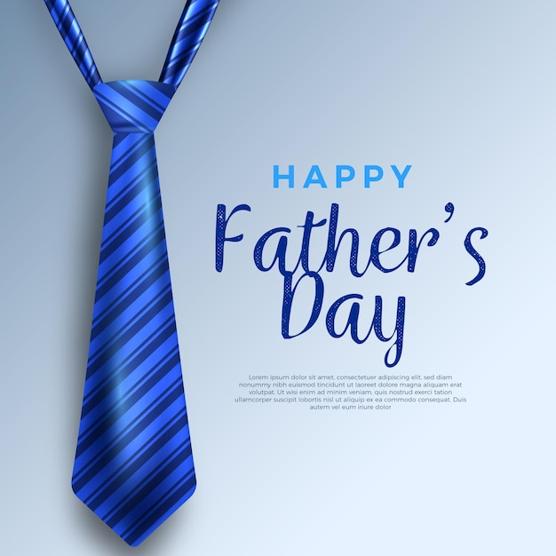 Koncepcja Realistyczny Dzień Ojca Darmowych Wektorów