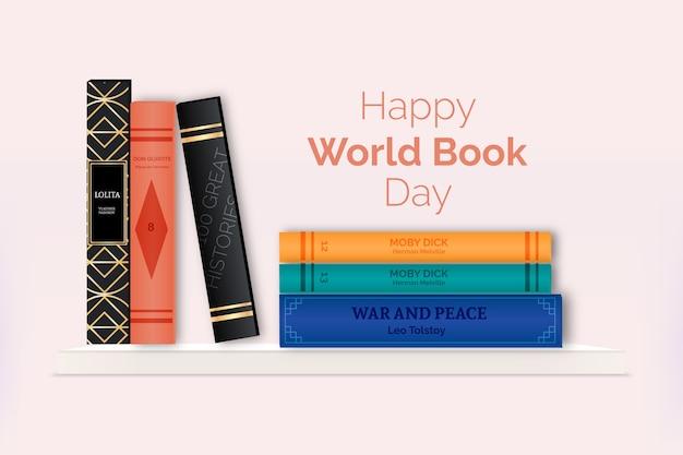 Koncepcja Realistyczny światowy Dzień Książki Darmowych Wektorów