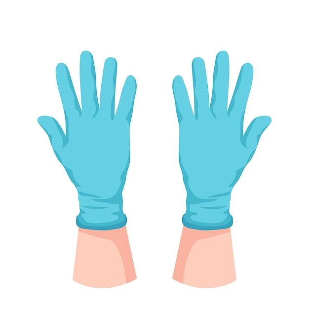 Koncepcja Rękawic Ochronnych Darmowych Wektorów