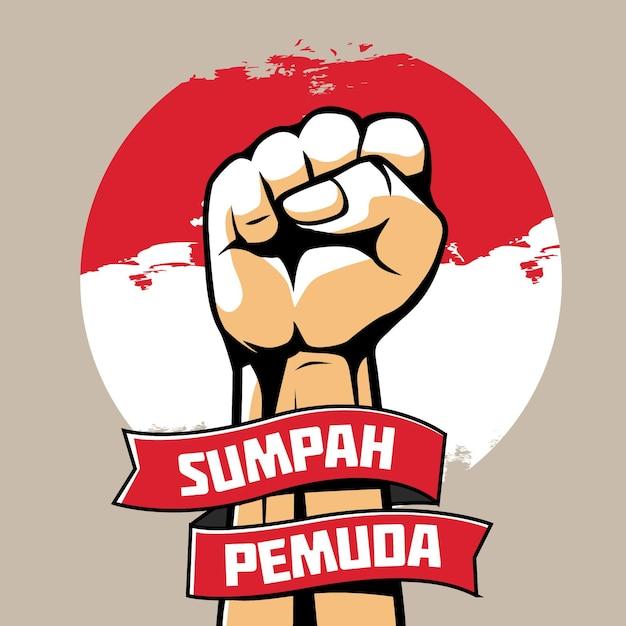 Koncepcja Rocznika Sumpah Pemuda Darmowych Wektorów