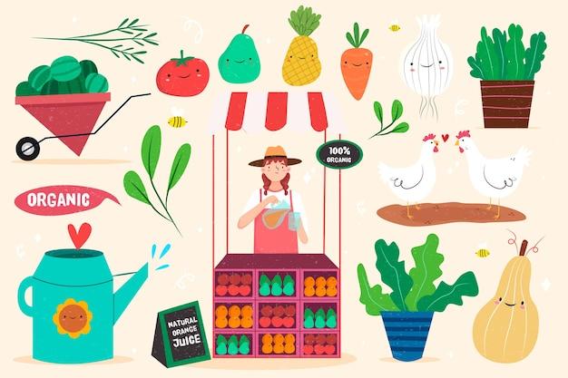 Koncepcja Rolnictwa Ekologicznego Darmowych Wektorów