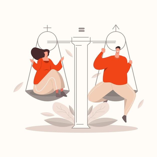 Koncepcja Równości Płci Darmowych Wektorów