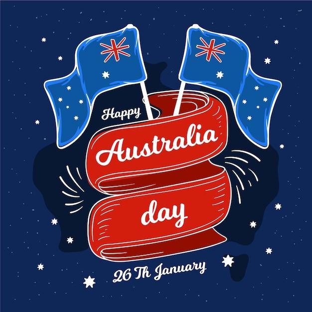 Koncepcja Rysunek Dzień Narodowy Australii Darmowych Wektorów