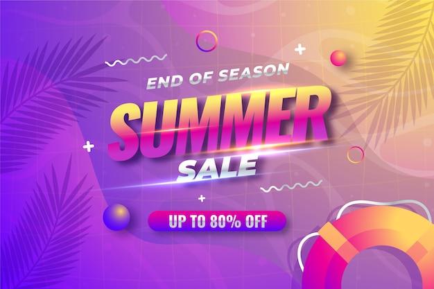 Koncepcja Sprzedaży Letniej Na Koniec Sezonu Darmowych Wektorów