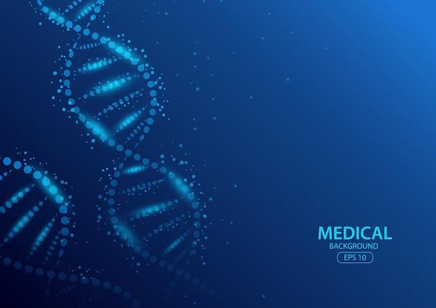 Koncepcja Streszczenie Tło Medyczne. Ilustracja Premium Wektorów