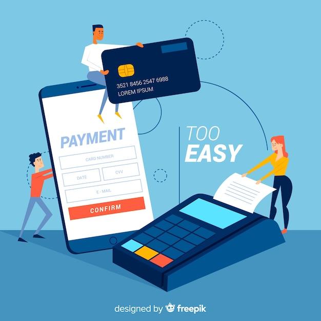 Koncepcja strony docelowej płatności kartą kredytową Darmowych Wektorów