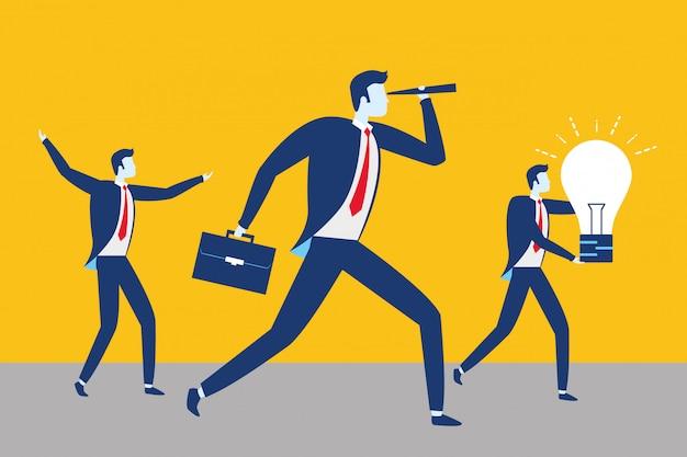 Koncepcja sukcesu ludzi biznesu Darmowych Wektorów