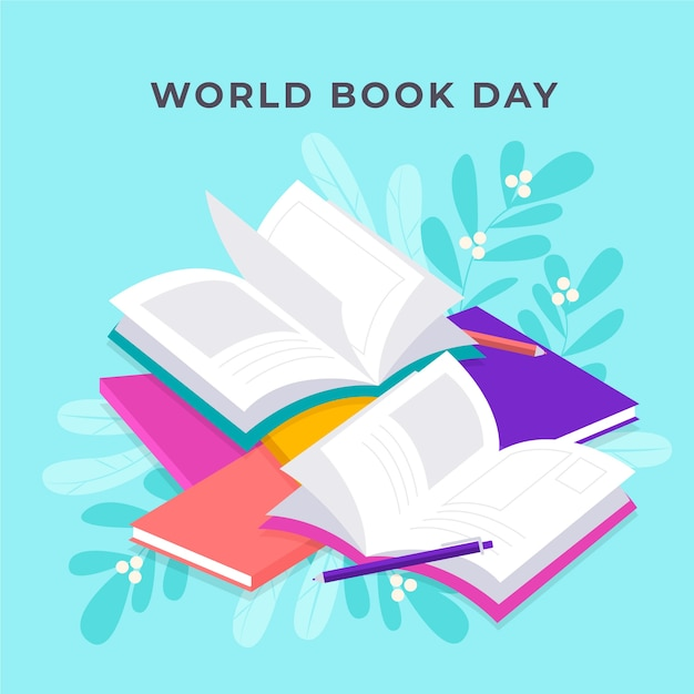 Koncepcja światowego Dnia Książki Darmowych Wektorów