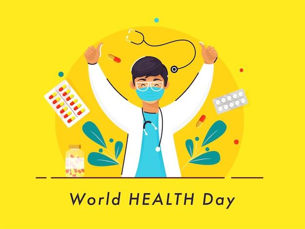 Koncepcja światowego Dnia Zdrowia Premium Wektorów