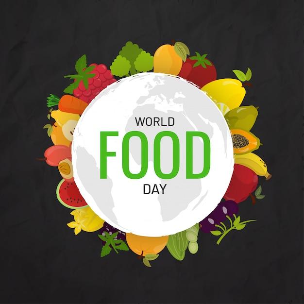 Koncepcja światowego dnia żywności. Premium Wektorów