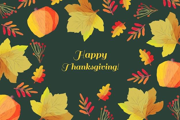 Koncepcja święto Dziękczynienia W Akwareli Darmowych Wektorów