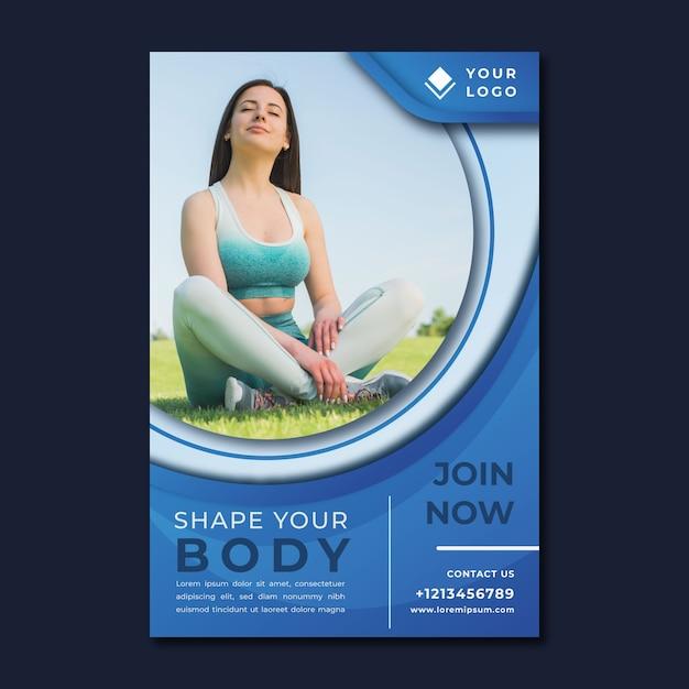 Koncepcja Szablon Plakat Sportu Premium Wektorów