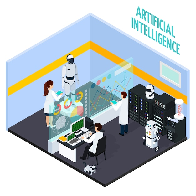 Koncepcja sztucznej inteligencji Darmowych Wektorów