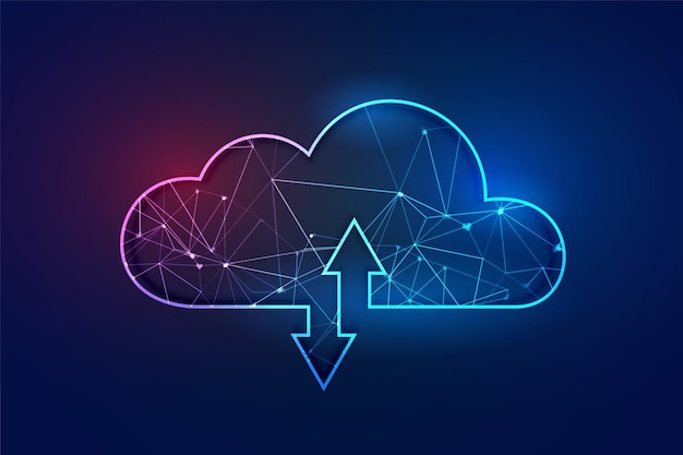 Koncepcja Technologii Szkieletowej Wielokątne Cloud Computing Darmowych Wektorów