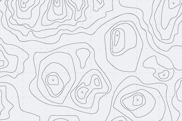 Koncepcja Tło Mapy Topograficznej Darmowych Wektorów